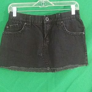 Roxy black denim jean skirt sz 3